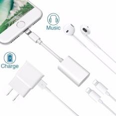 Review Terbaik Lyball Iphone 8X7 Plus Lightning Splitter Adaptor Panggilan Charge Music Dual Adaptor Petir Headphone Jack Audio Dan Mengisi Kabel Adaptor Untuk Iphone 8 7 7 Plus Suport Ios 10 3 Ios 11 Plug Bermain Intl