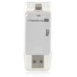 Beli Lyball Usb I Flash Drive Usb Hd Micro Sd Memory Card Reader 8 Pin Lightning For Ipad Iphone 5 5S 6 6S Ipad Air White Oem Dengan Harga Terjangkau