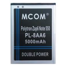 M-Com Baterai Double Power Battery for Polytron Zap 6 Note 550 / PL-8AA6 - 5000 mAh