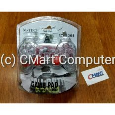 M-TECH Stick Gamepad USB PC Joystick Controller - MTC-MT-830S-TR - Red