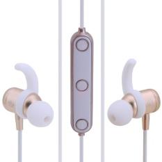 M2 Bluetooth 4.1 Olahraga Tahan Air Earphone Earbud Stereo Headphone (Emas)-Intl