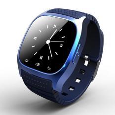 Jual M26 Bluetooth Jam Tangan Mewah Smartwatch With Dial Sms Ingatkan Pedometer Biru Intl General Murah