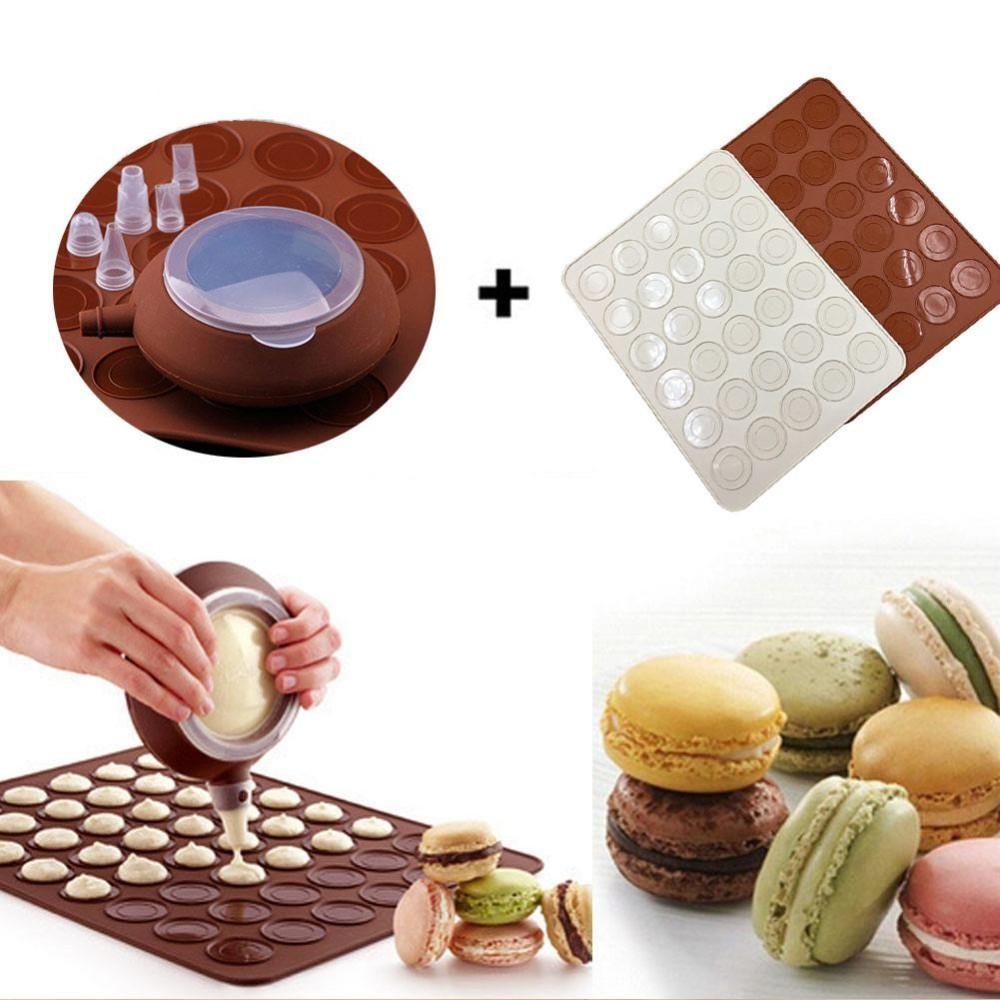 Toko Macaron Baking Mold Silicone Pot Sheet Set Oven Diy Cake Mould Intl Murah Di Tiongkok
