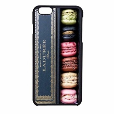Macaron Laduree iPhone 6 Case / iPhone 6s Case (Black Plastic)