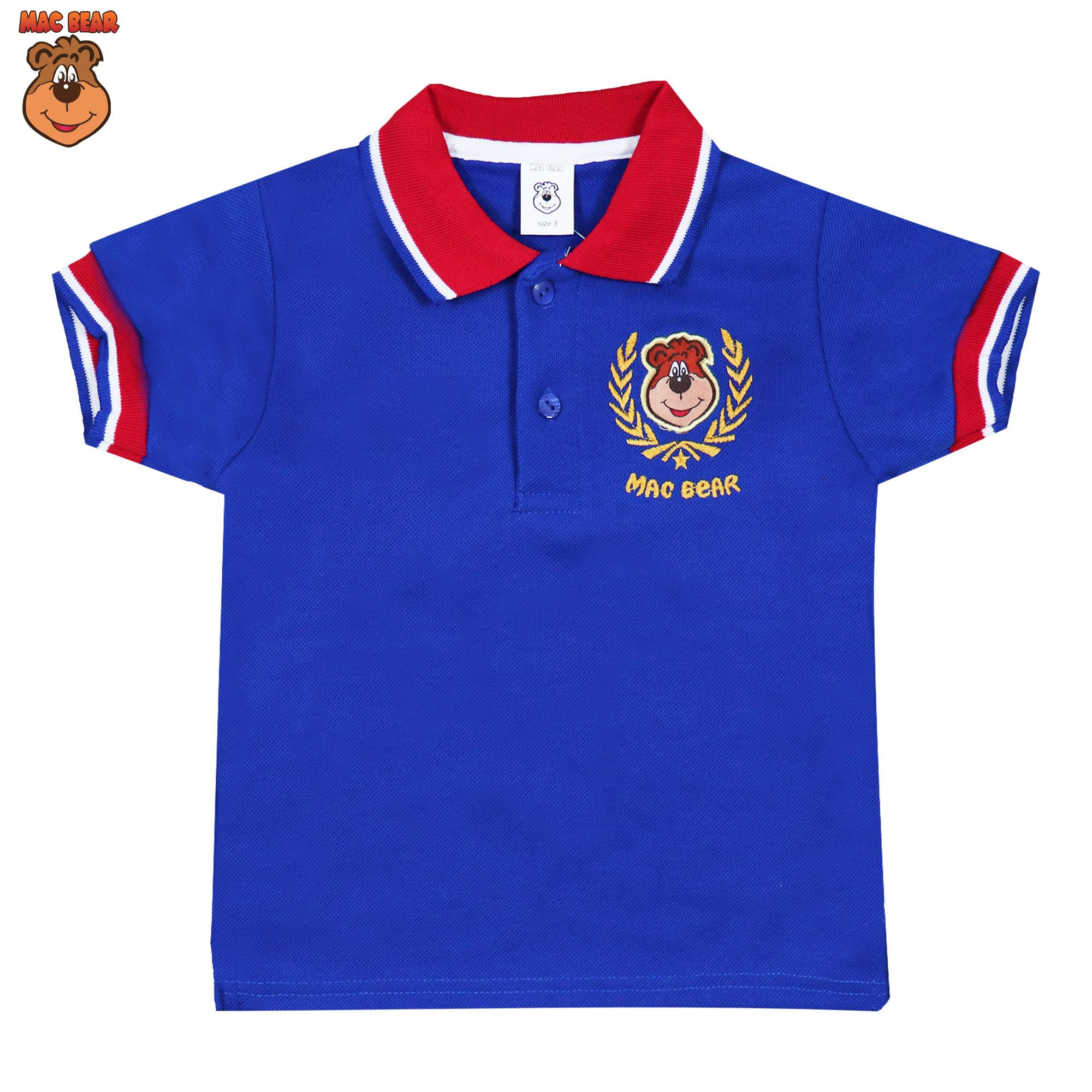 Macbear Baju Polo Anak M For White Stripes On Red Size 3 De5 1805 Junior Kemeja Lengan Panjang Stars Blue 8 Biru Kids Atasan Hello Macperry
