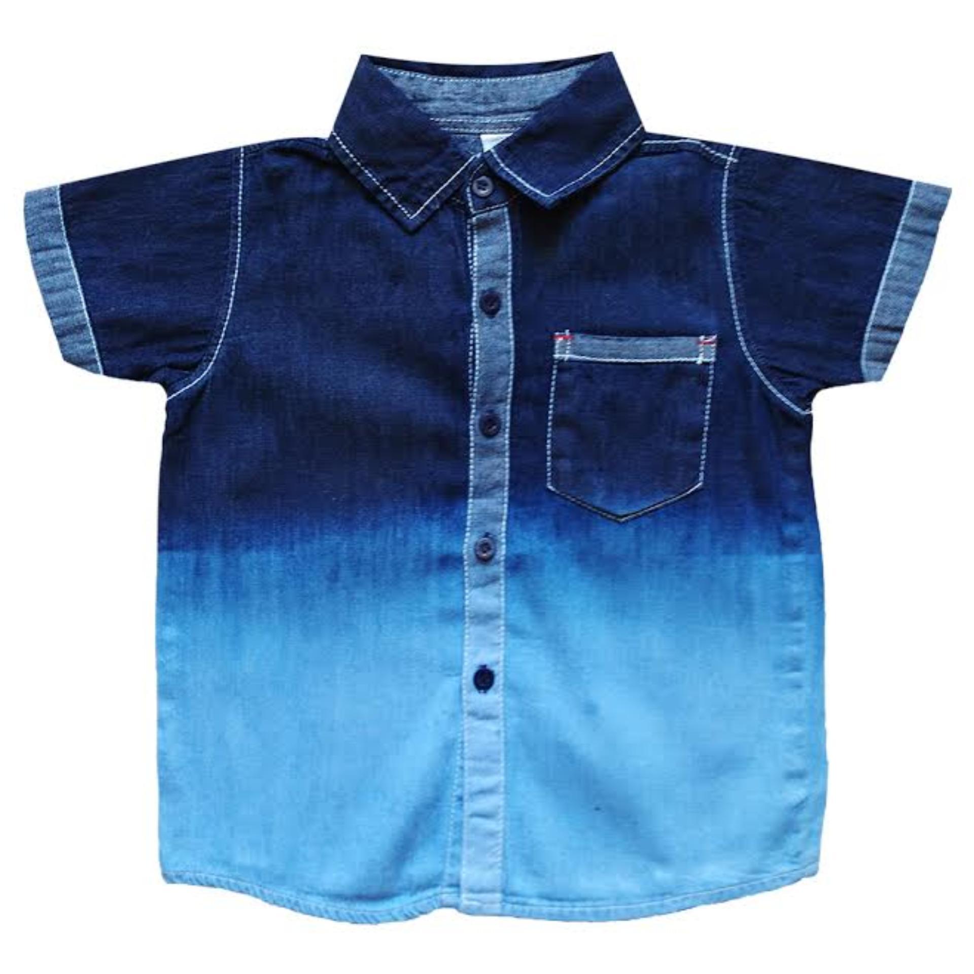 MacBear Kids Baju Anak Kemeja Denim Polos Variasi Ombre