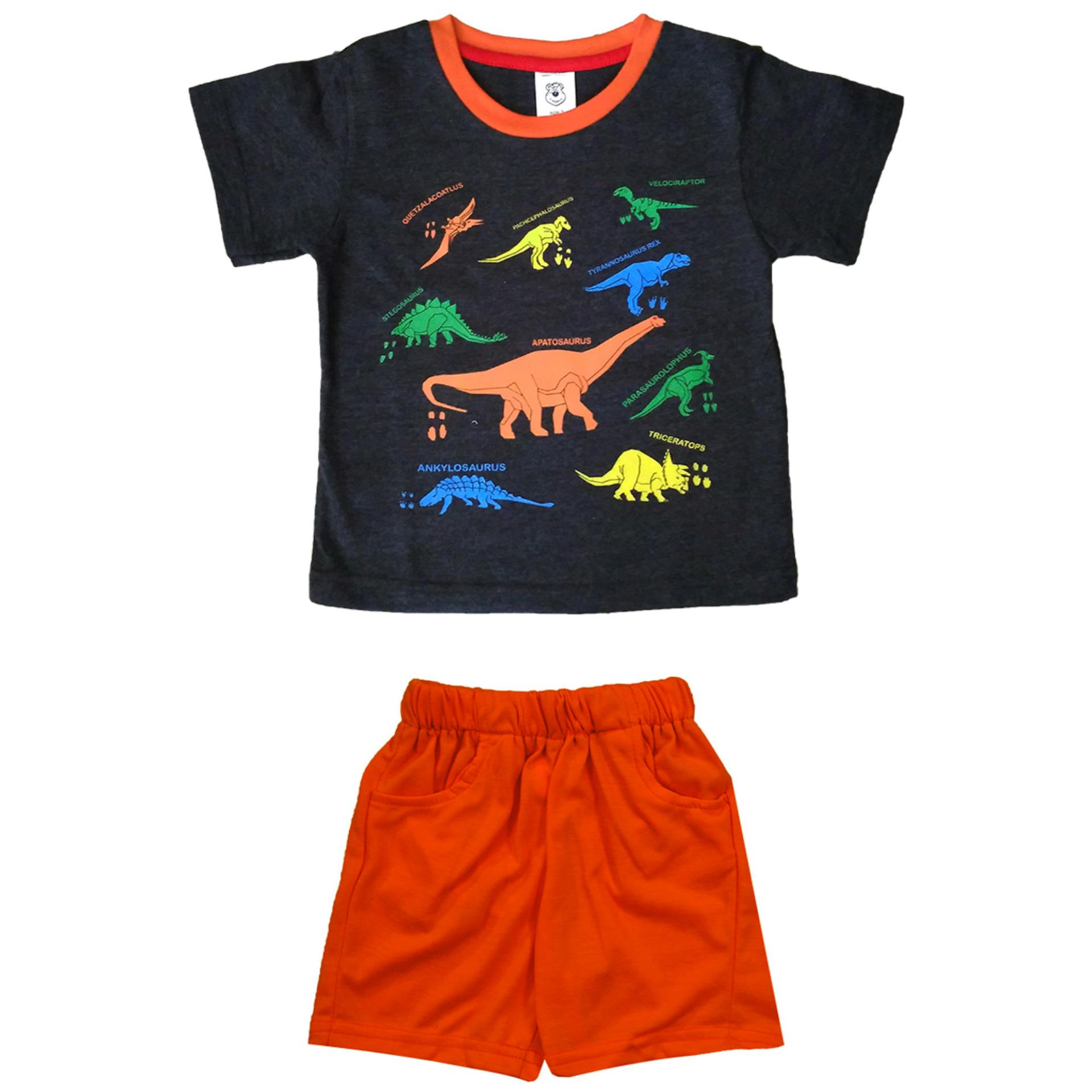 Satu Set Pakaian Bayi Anak Cewek Cowok Kaos Celana Singlet Baju Pendek Source Macbear Kids
