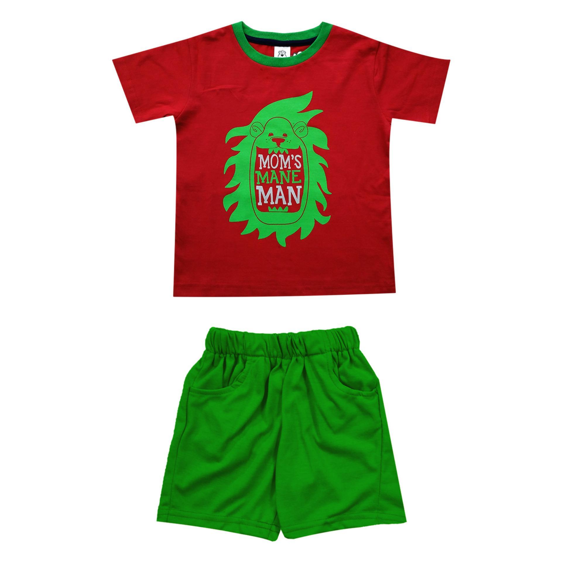 MacBear Kids Baju Anak Setelan T-Shirt  Mom's Mane Man