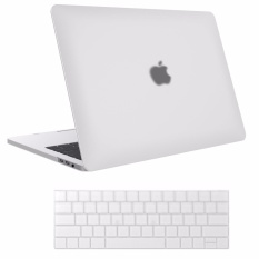 Frosted Shell MacBook Case MacBook Pro (A1706/A1708) 13 Inch Case 2017 & 2016 Release A1706/A1708, (Dengan keyboard Membran) Pro Case-(Putih)-Intl