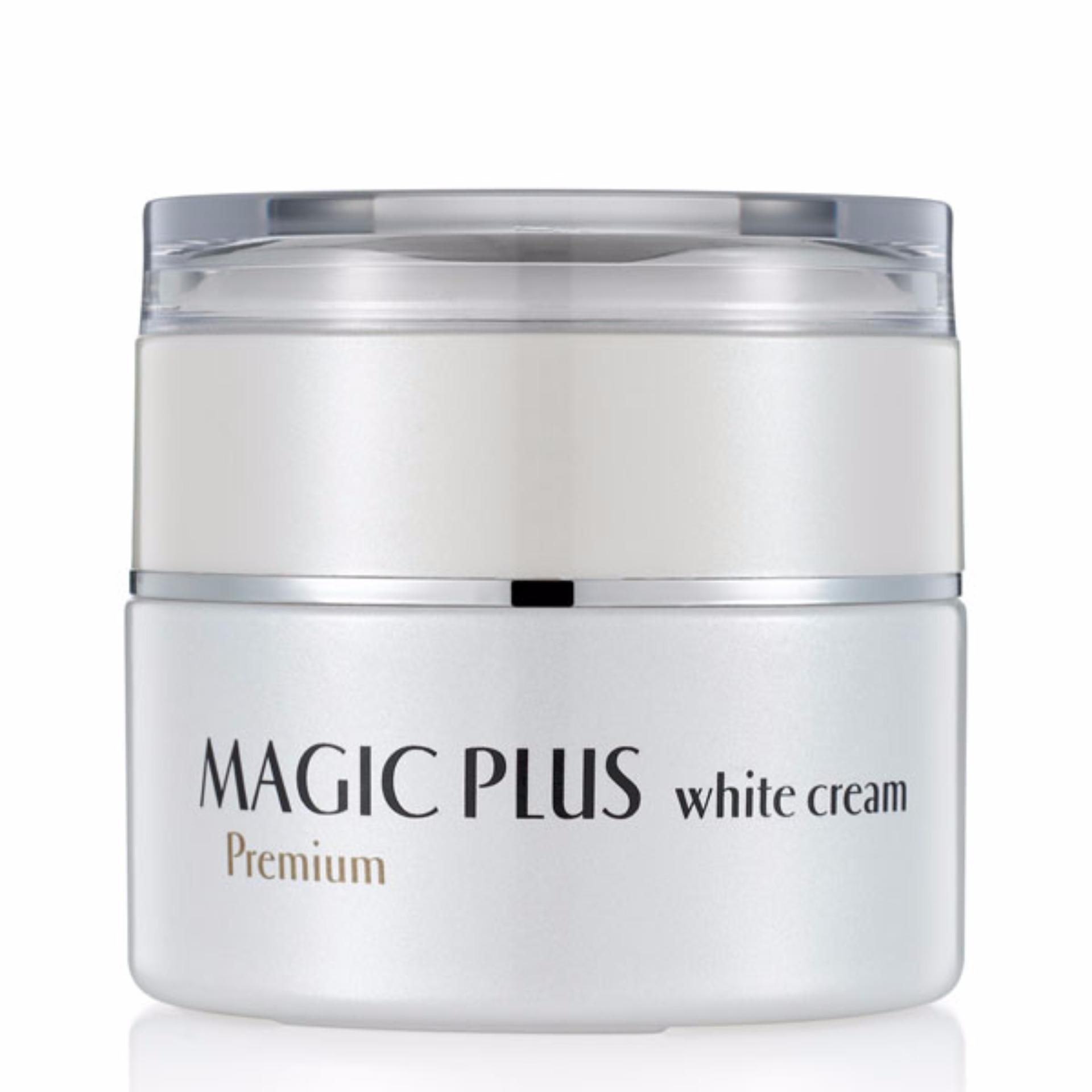 Daftar Harga Magic Plus White Cream Premium Krim Pemutih Wajah Original Korea Asli Aman Kulit Halus Lembut Kencang Cerah Segar Alami Menyamarkan Noda Dan Flek Hitam Beauty 35 Gr Magic Plus