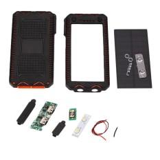 Magicworldmall Produk Elektronik 5 V Ganda USB LED Tenaga Surya Daya Panel W/Senter untuk 6065113 Baterai Pengisi Daya-Internasional