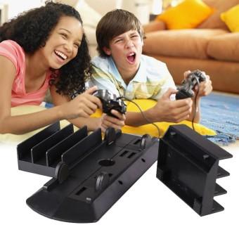 Magicworldmall Produk Elektronik Hitam Permainan Konsol 3 Permainan Cakram Vertikal Penahan Braket Penyangga untuk Ramping Pro-Internasional