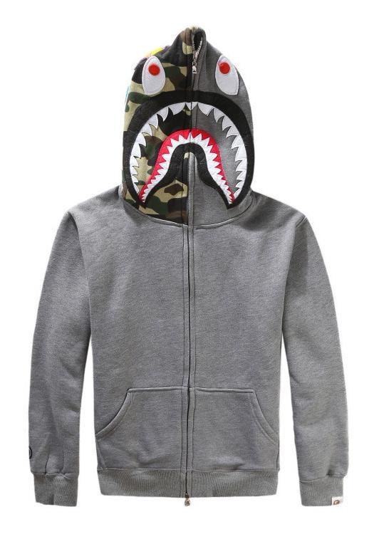 MagicWorldMall Fashion Sweater Hoodie Baru Pria Bape Ape Jaket SHARK Head HOODIE Overcoat Sweatshirt-Intl