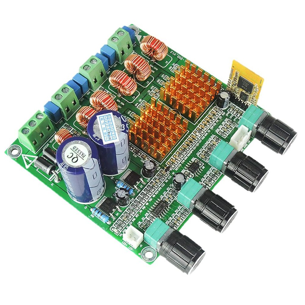 MagiDeal Bluetooth 4.0 Digital 2.1 Class D HIFI Power Amplifier Board 3CH Bass Ampl - intl