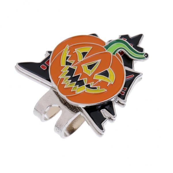Toko Magideal Halloween Pumpkin Magnetic Hat Clip Golf Ball Marker Fit For Golf Cap Visor Intl Terlengkap