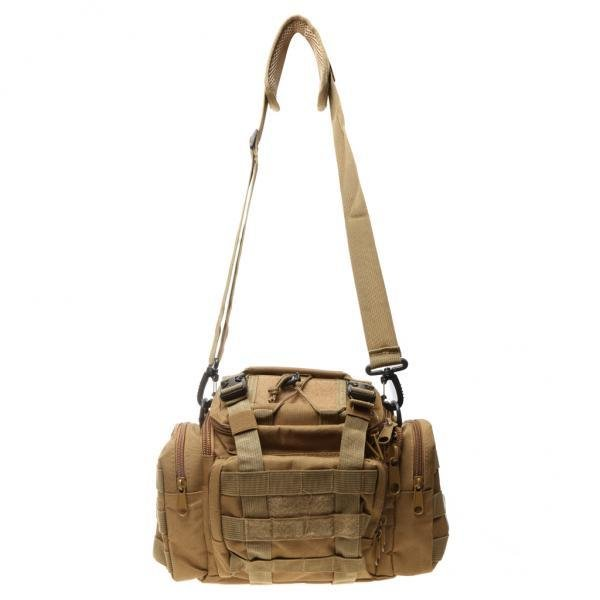 MagiDeal Militer Taktis Trekking Camping Hiking Shoulder Bag Ransel Khaki-Intl