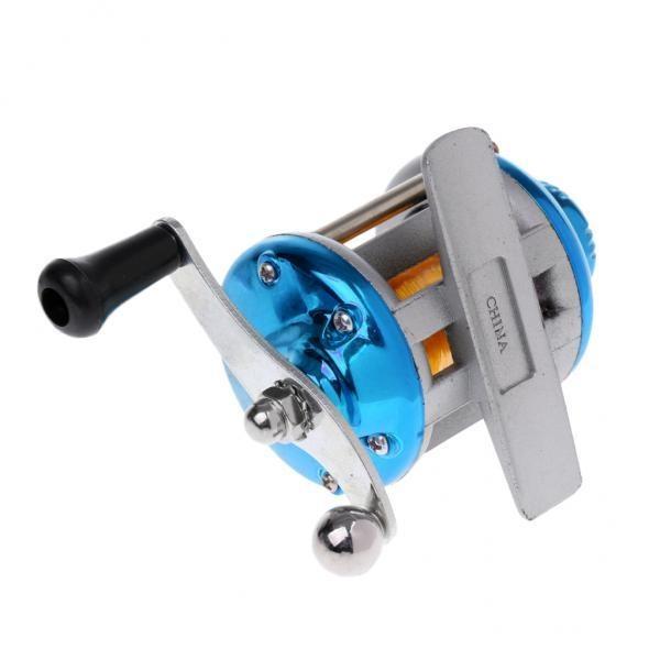 Harga Magideal Tangan Kanan Ice Fishing Spinning Drum Reel Metal Baitcast Coil Roller Biru Intl Magideal Terbaik