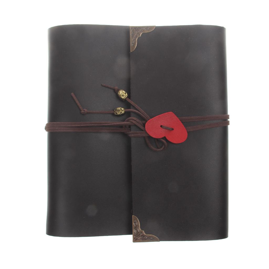 Jual Magideal Vintage Pu Kulit Album Foto Buku Memo Diseduh Sendiri Scrapbook Dengan Heart Brown Intl Branded