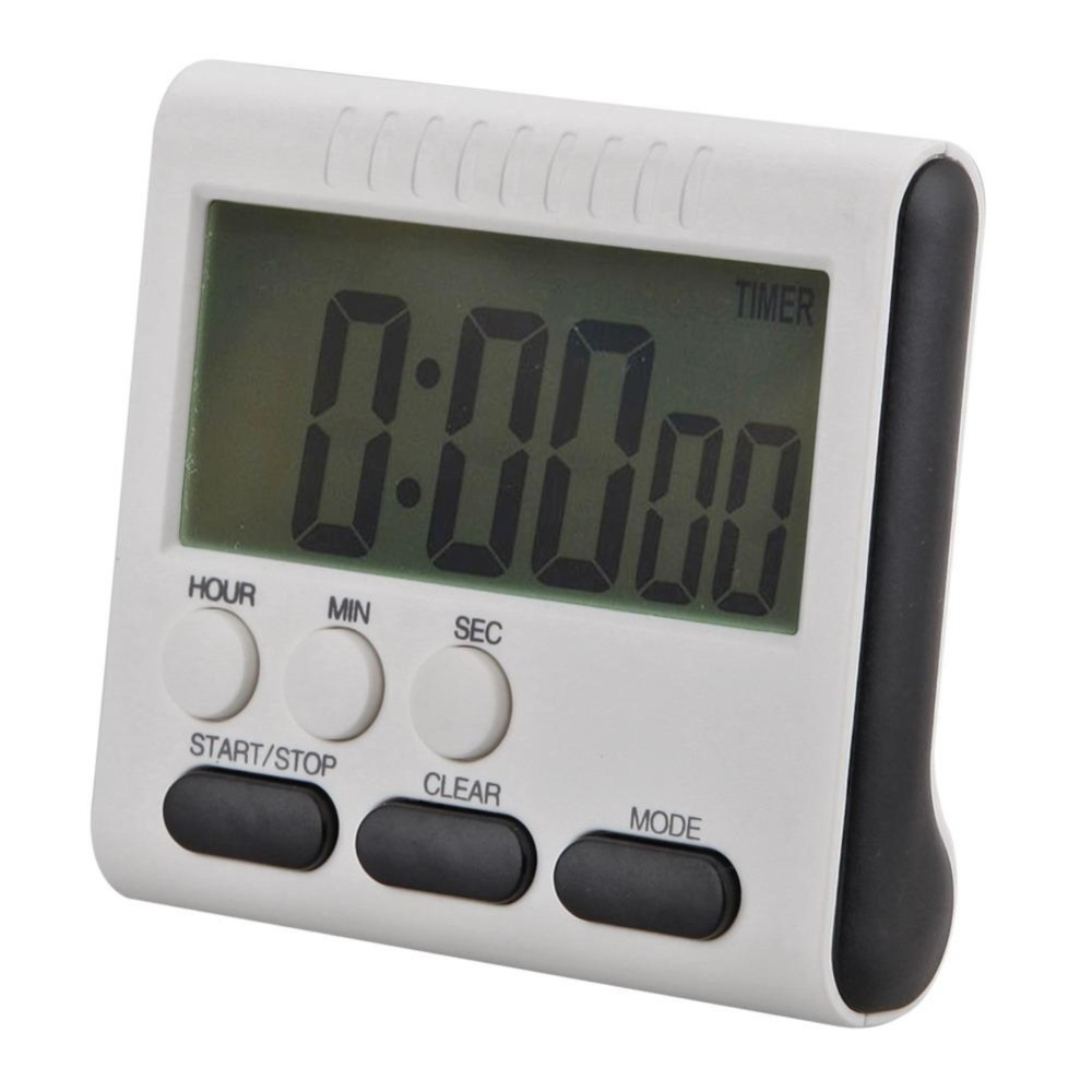 Magnetic Besar LCD Digital Timer Dapur Alarm Count Up Down Clock 24 Jam-Intl