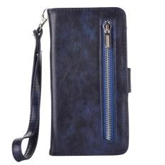 Dompet Datar Magnet Detachable Flip Cover untuk Samsung Galaxy Note 5 (Biru Tua)-Intl