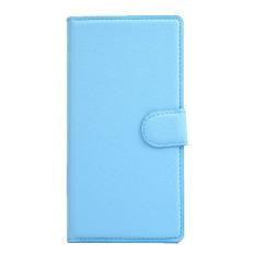 Magnetic Flip Dompet Kulit Case Holder Cover Stand untuk Nokia X Biru
