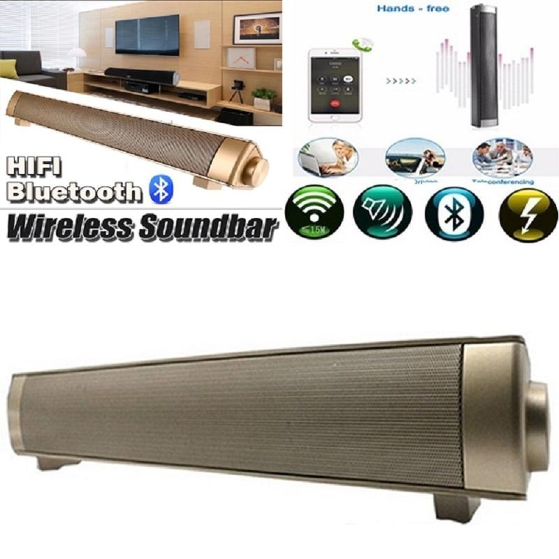 Jual Magnetic Nirkabel Soundbar Lp 08 Hifi Kotak Bluetooth Subwoofer Speaker Boombox Stereo Portable Handsfree Speaker Untuk Tv Pc Emas Intl Tiongkok