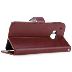 Snap Magnetik Flip Leather Stand Cover Wallet Case untuk HTC M9-Intl