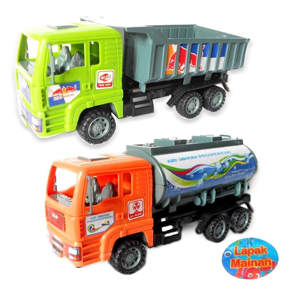 Mainan Anak Mobil truck Dump & Truck Tangki