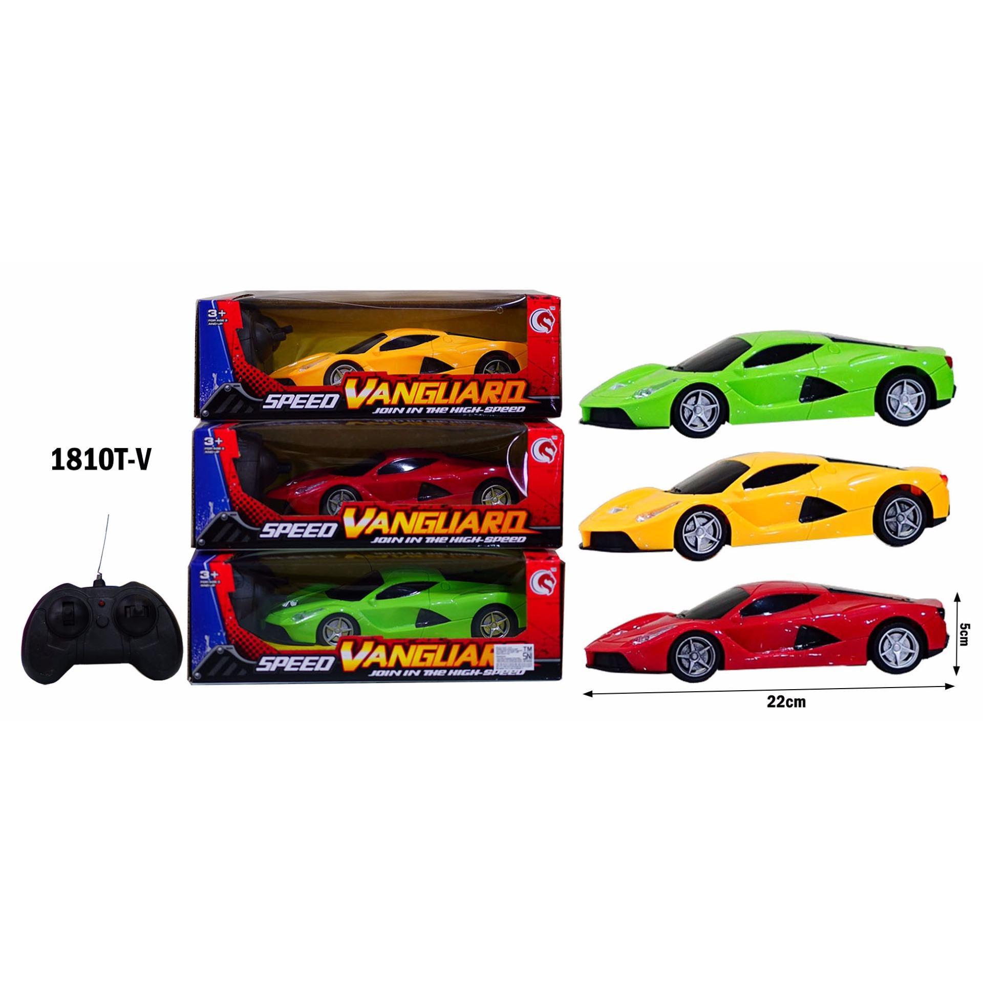 Mainan Anak RC Mobil Remot Speed Vanguard Ferari 1810T-F (Warna Random)