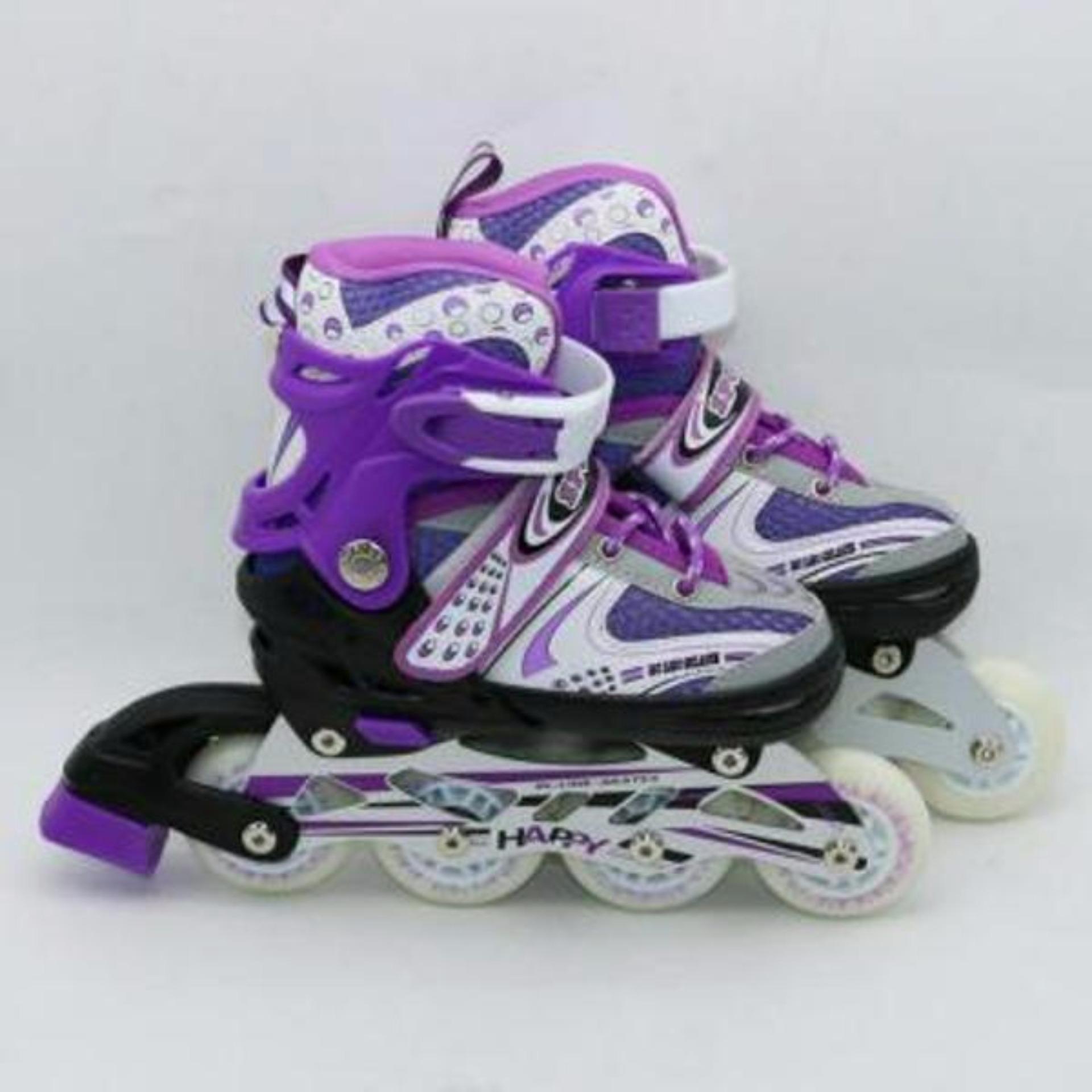 Mainan Anak Sepatu Roda Flashing Roller Inline Skate Power Line