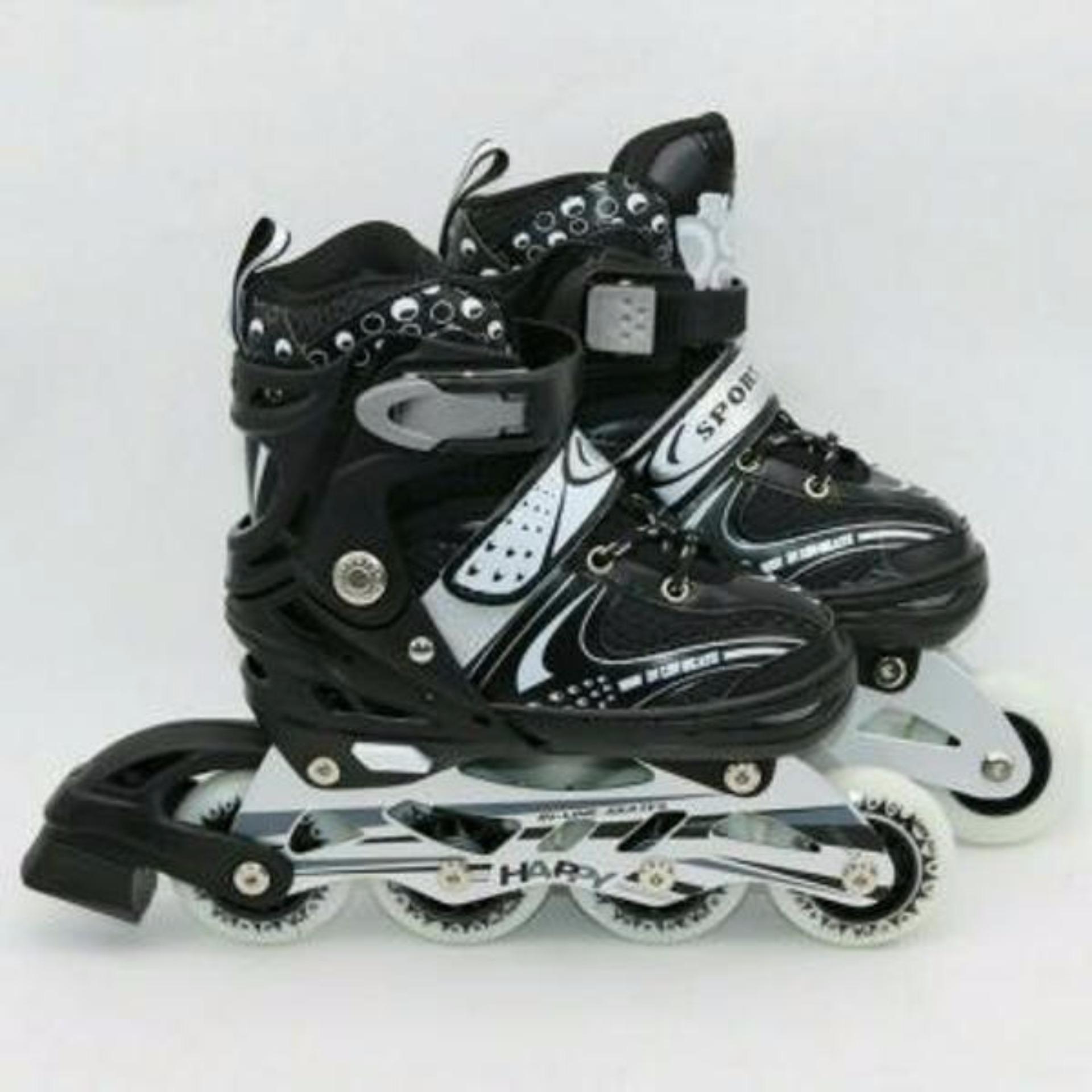 Mainan Anak Sepatu Roda Roller Skate Flashing Roller Inline Skate Power Line