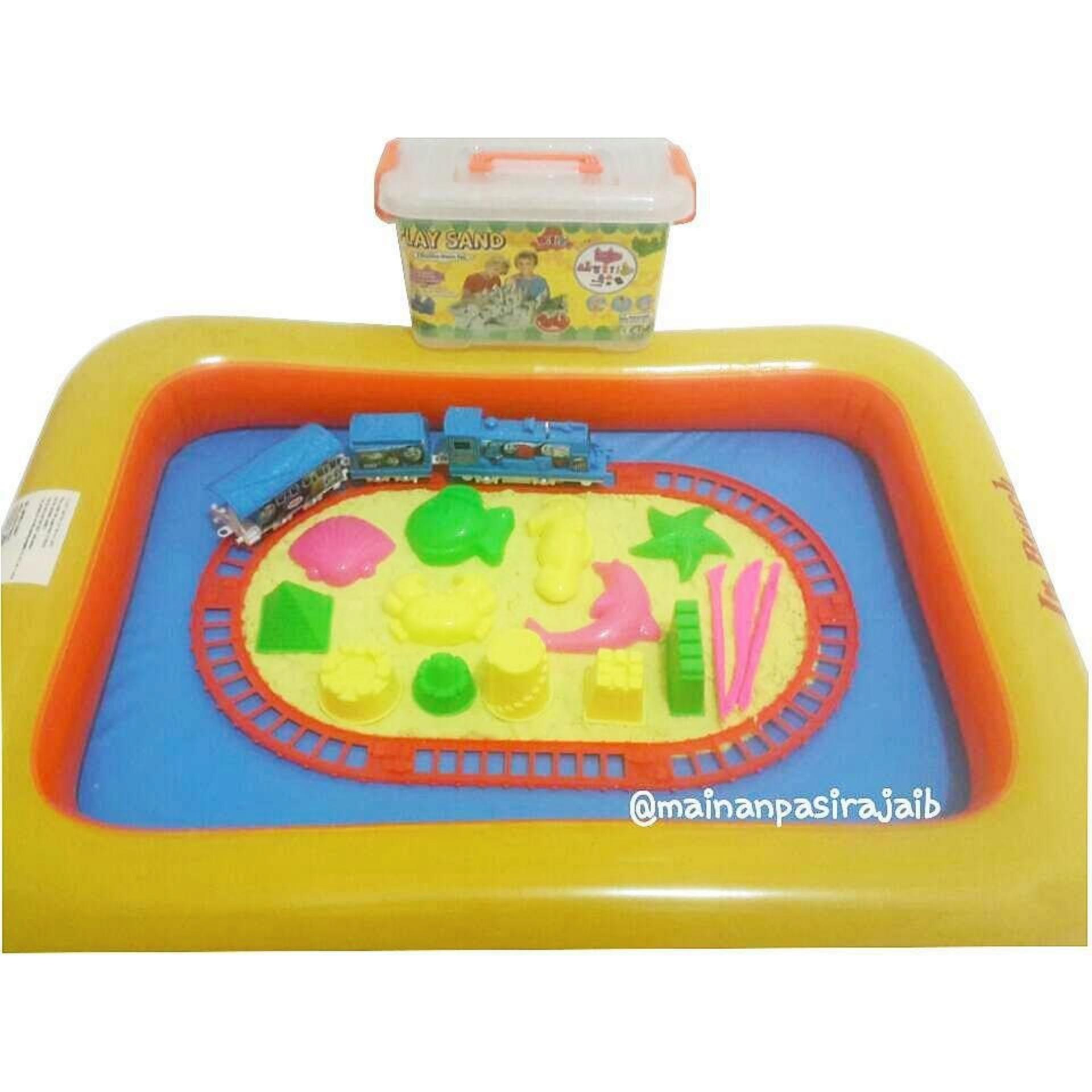 Mainan Edukatif Pasir Ajaib Paket Play Sand 1Kg Dengan Mainan Train Playset Thomas Indonesia Diskon