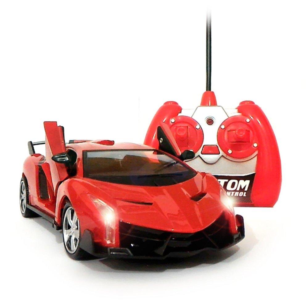 Mainan88 Rc Mobil Lamborghini Veneno Skala 1 24 Pintu Buka Tutup Dengan Remote Merah Rc Diskon