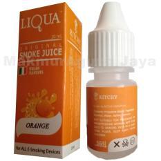 MAJ E-Liquid Liqua Smoke Juice 10ml Italian Flavours Premium Niccotine 0% Rasa Orange / Jeruk For ALL E-Smoking Device Vapor Vape