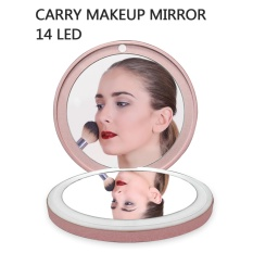 Situs Review Make Up Mirror Led Power Bank Pink
