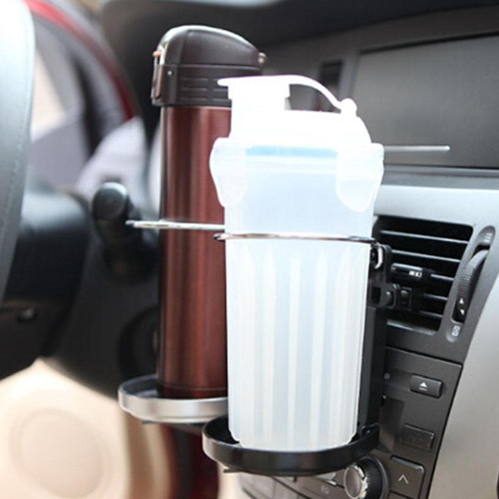 Makiyo Kit Mobil Universal Plastik Air Outlet Minuman Dudukan Cangkir Lipat Adjustable Pemegang Botol Minuman dengan Kipas Angin Pendingin Acak Warna-Intl
