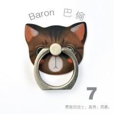 Maoxin Catmi HP braket cincin penggunaan umum Korea Selatan Imut kreatif Orang Malas anti jatuh Anti Hilang gesper cincin hadiah