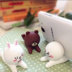Malas Lucu Silikon Baru Boneka Tiga Dimensi Ponsel Rak Rak Original