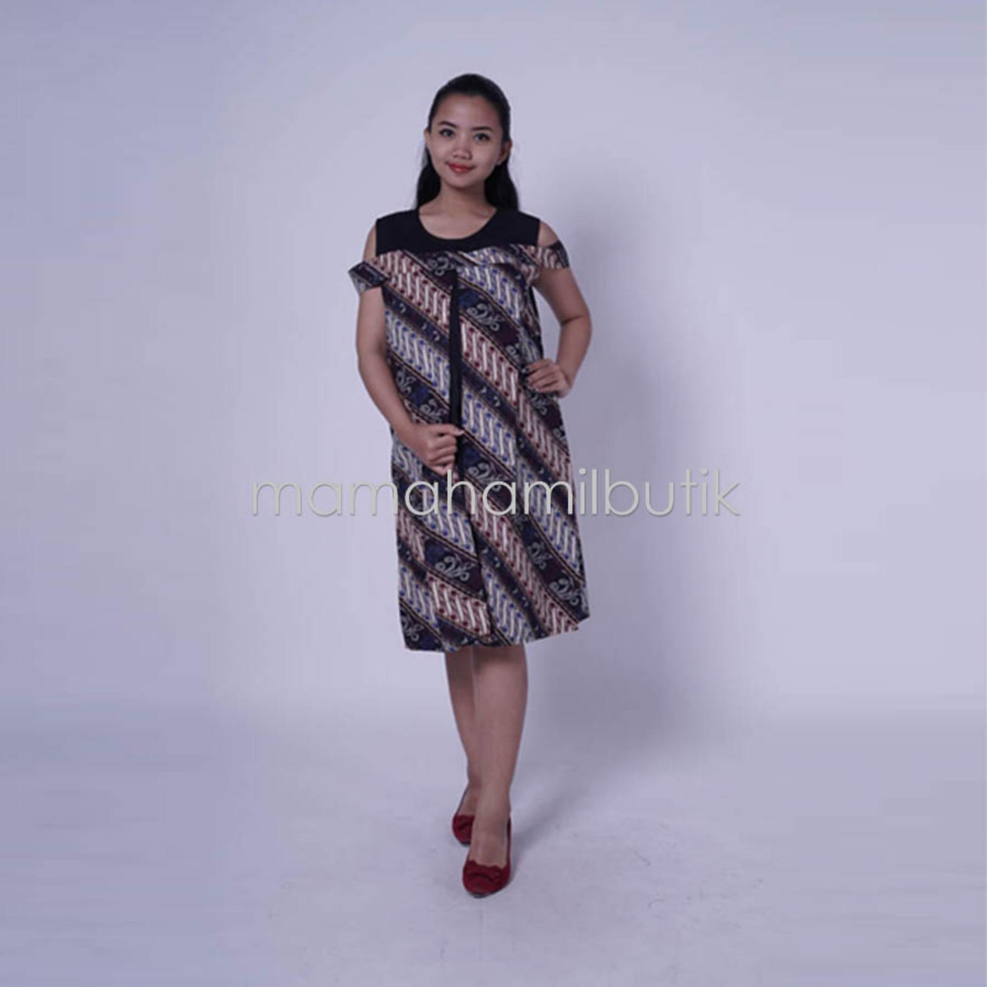 Mama Hamil FREE CD Hamil 1psc Baju Hamil Dress Menyusui Bolero Batik Etnik Sabrina Cantik - DRO 809