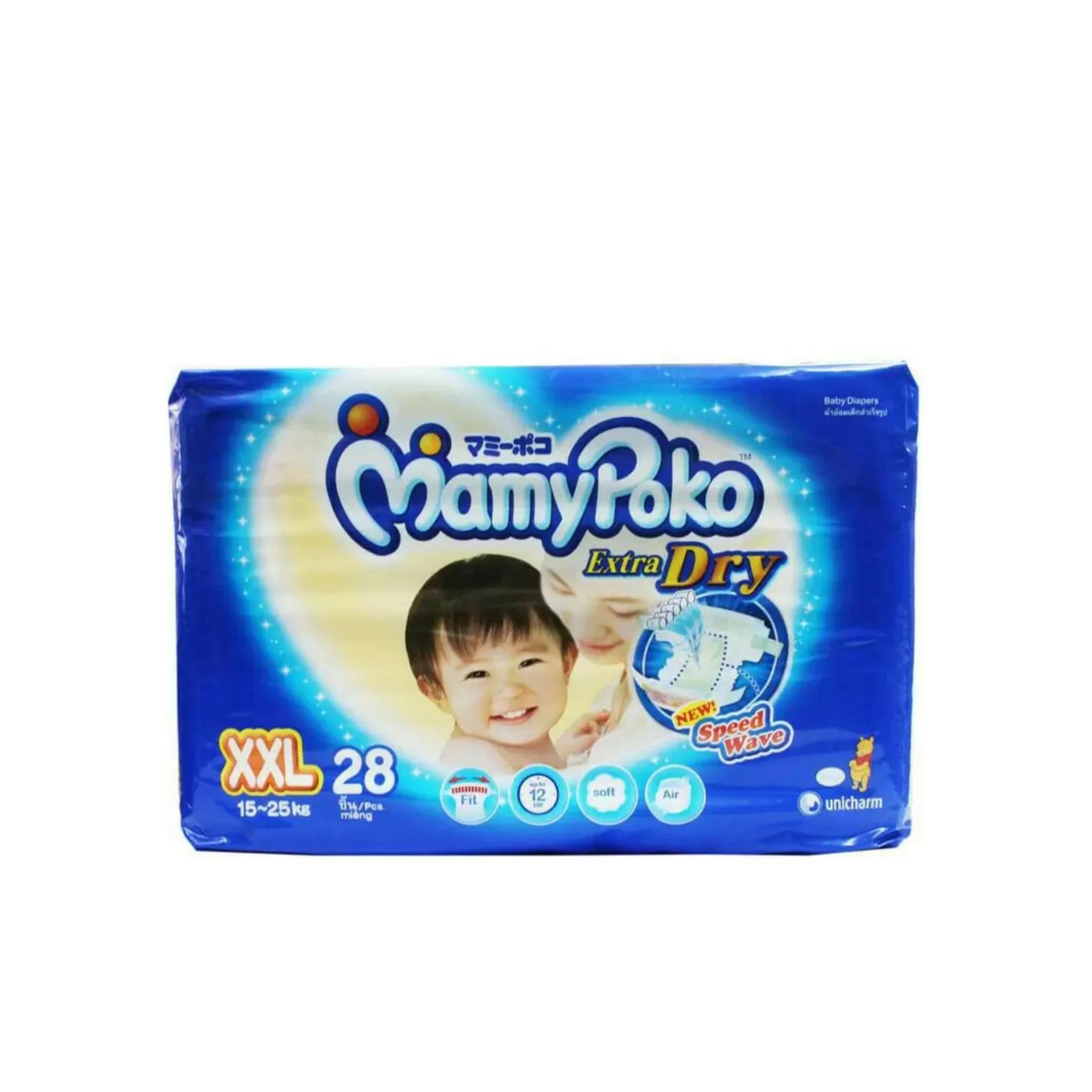 Spesifikasi Mamypoko Popok Tape Extra Dry Xxl 28 Mamypoko Terbaru