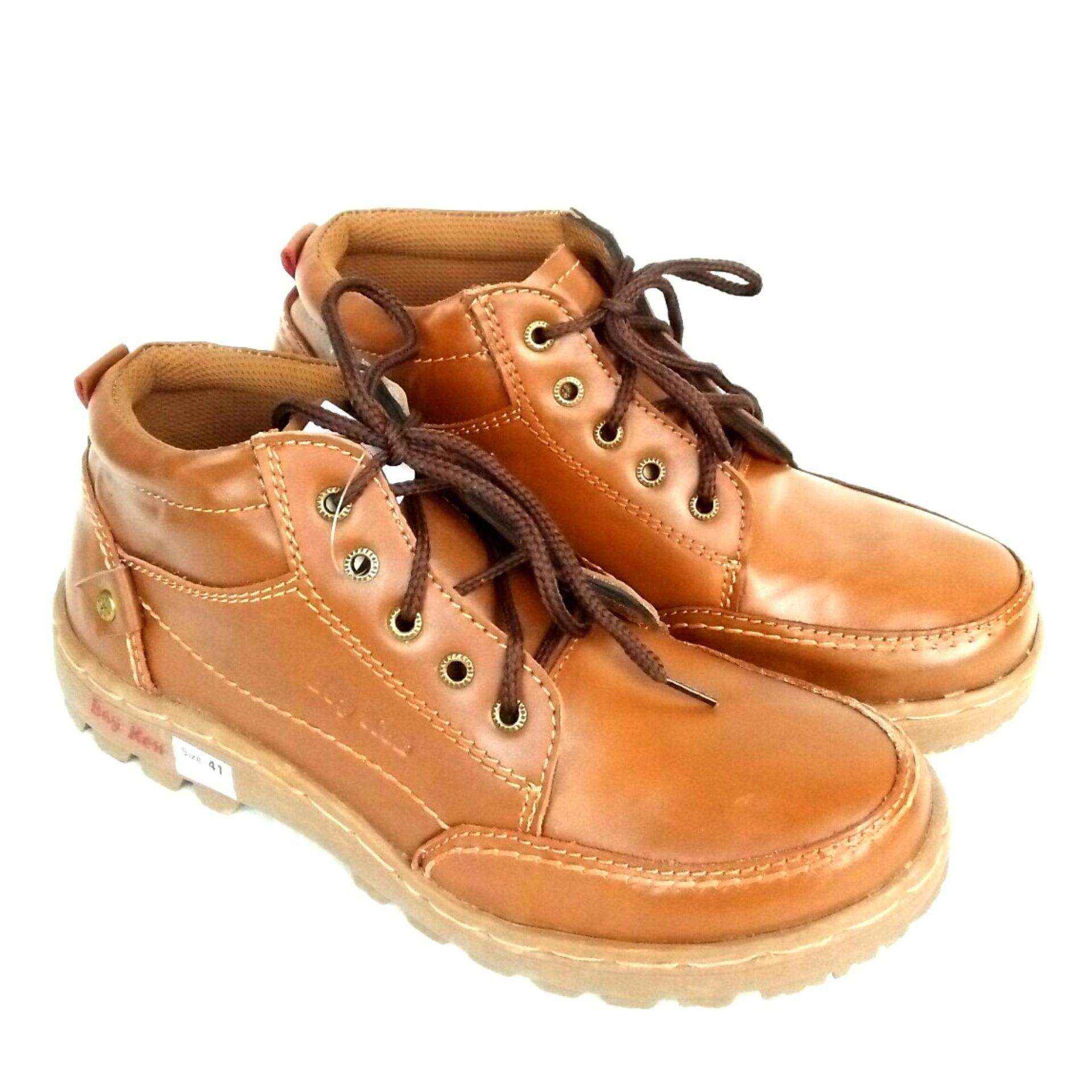 Review Toko Man Dien Sepatu Cassual Kulit Asli Semi Boots Zipper B Keen Ljk 8 Tan Online