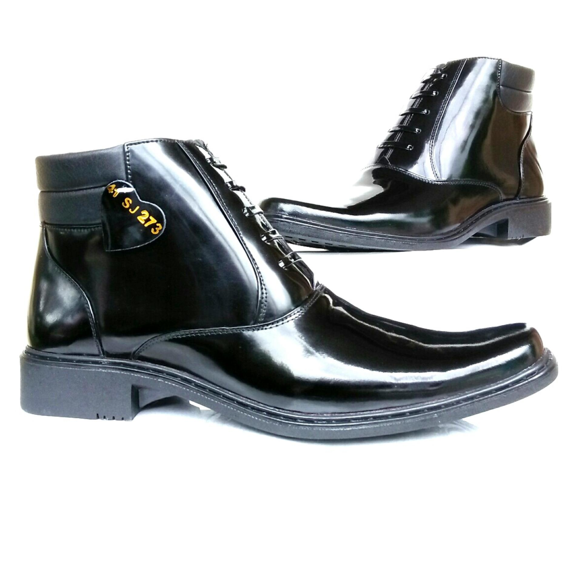 Harga Man Dien Sepatu Kulit Lak Pdh Sj273 Lux Hitam Baru Murah