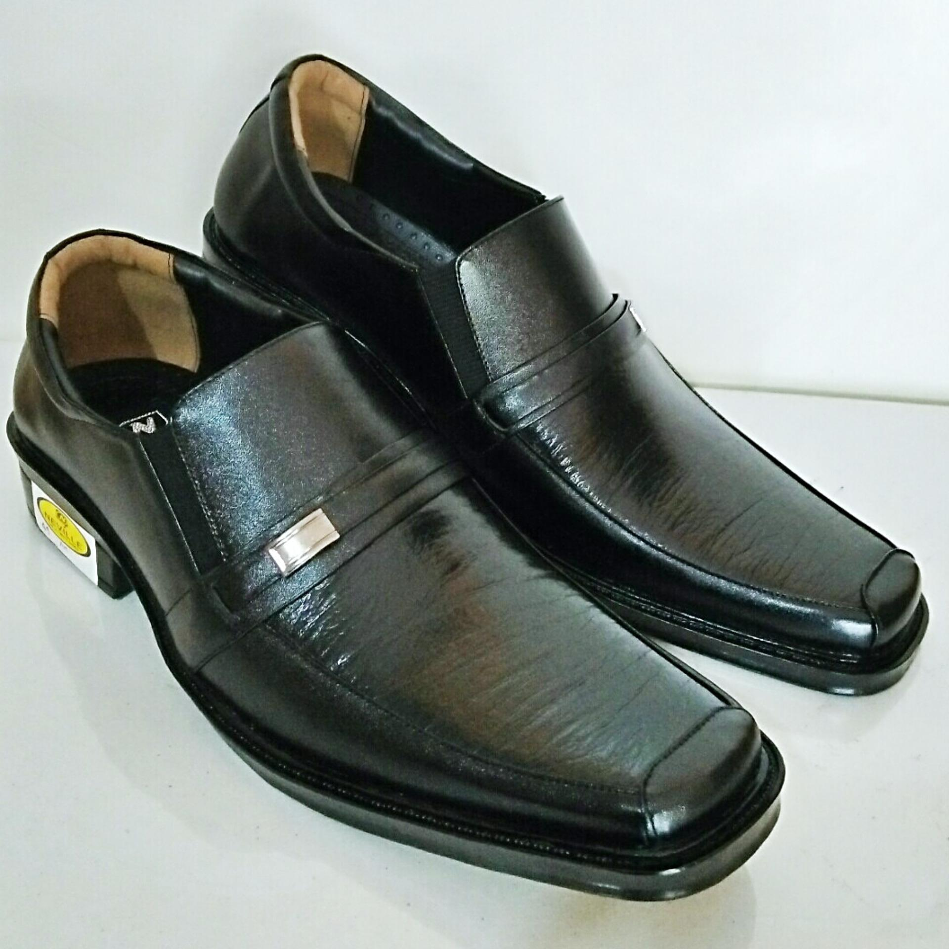 Harga Man Dien Sepatu Kulit Pria Pantofel Nv72 Hitam Satu Set