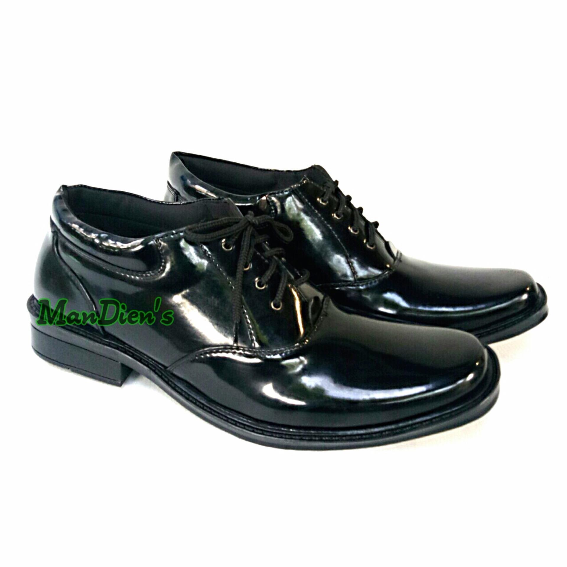 Promo Mandien S Sepatu Pria Super Kilat Pantofel Formal Pdh 02 Tali Hitam Man Dien Store