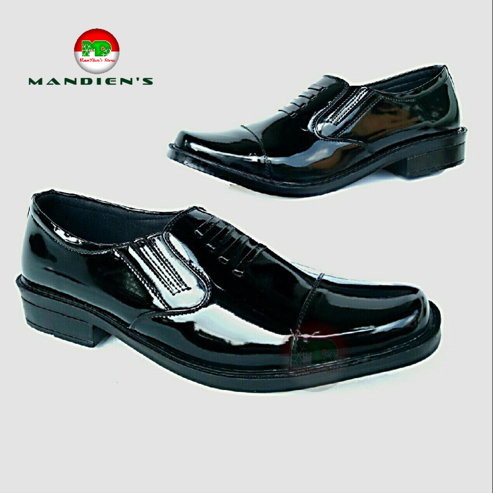 Mandiens PDH P.04 Sepatu Formal Pria Pantofel Super Kilat (Hitam) 31cf921002