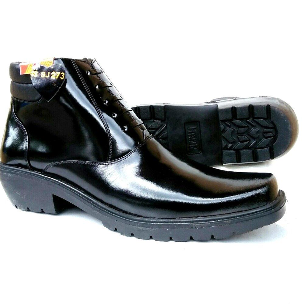 Review Toko Mandiens Pdh Sj K273 Bm Sepatu Pria Boots Sol Tebal Kulit Asli Kilap Export Quality Hitam