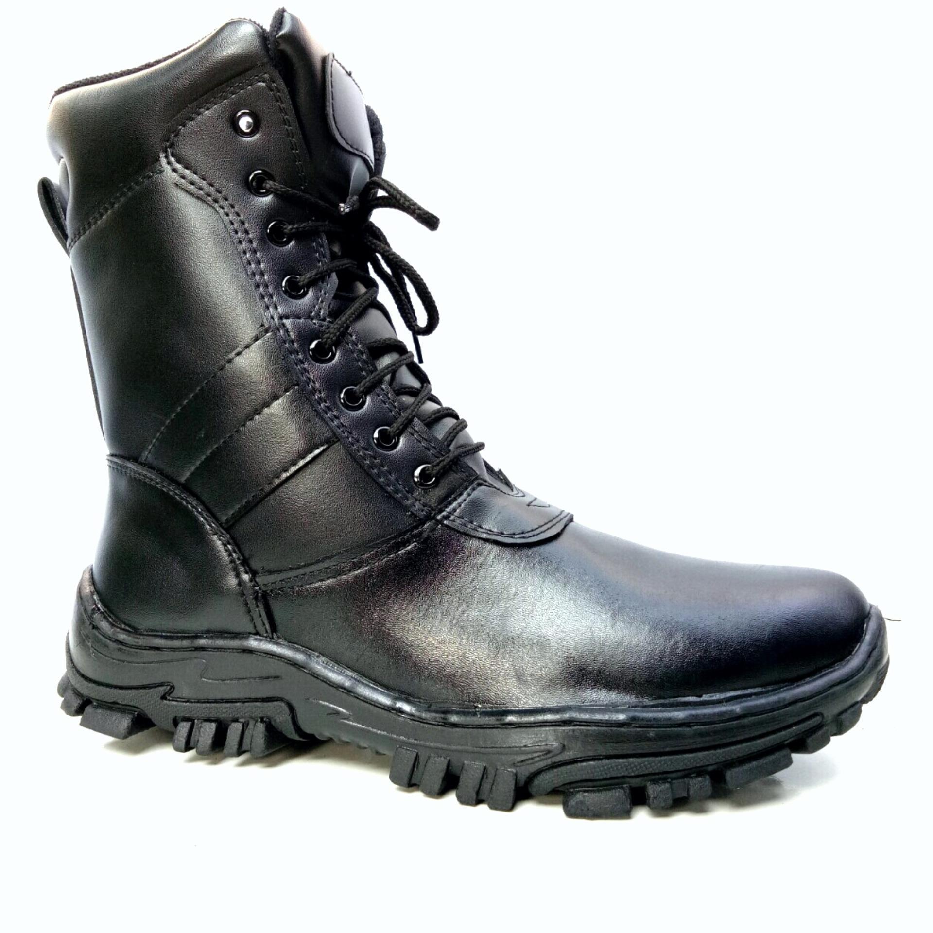 Mandiens PDL TNI PU Sepatu Boots Pria Model Jatah Prajurit TNI - Hitam