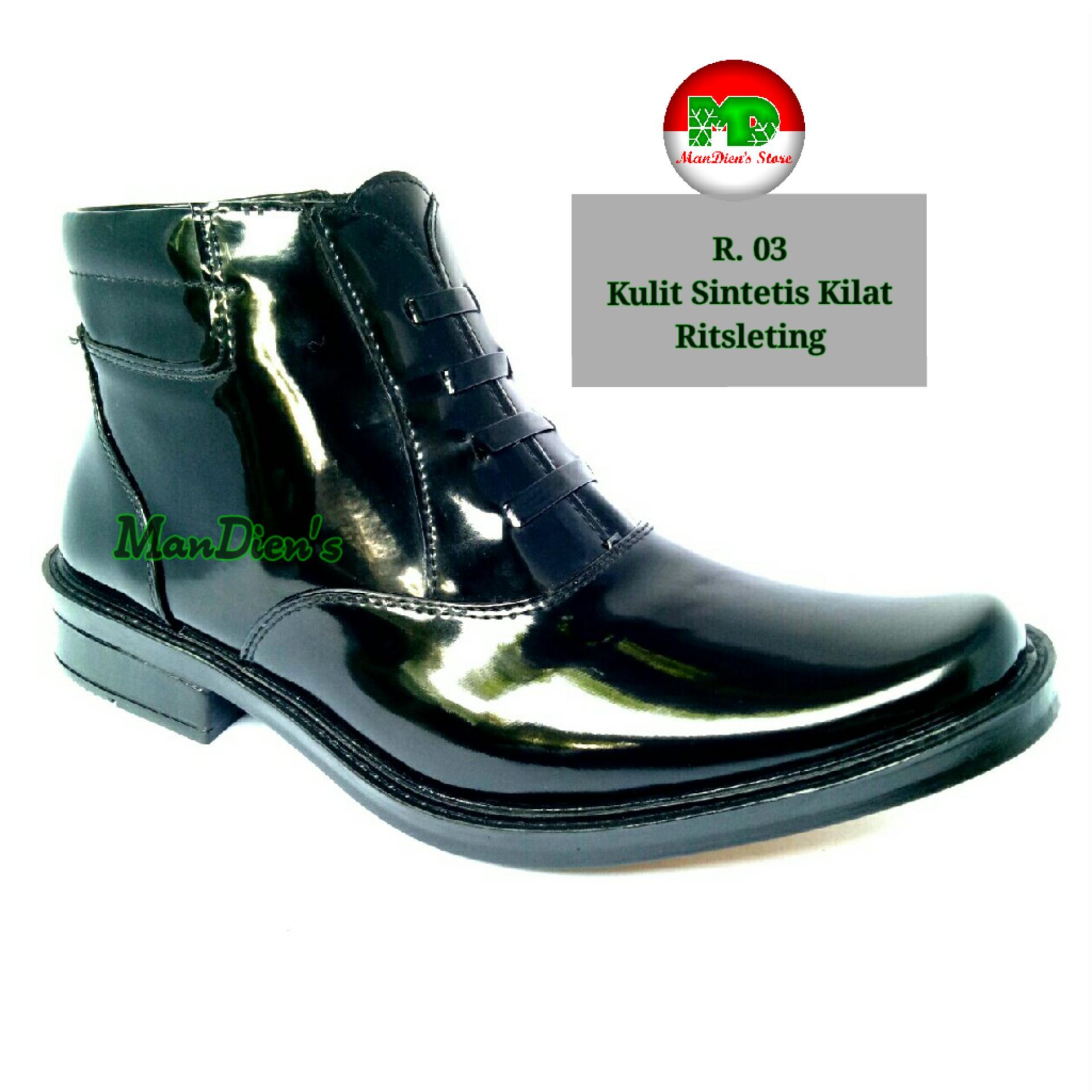 Mandiens Sepatu Pria Pantofel Super Kilat PDH R.03 – Hitam 938a22d818