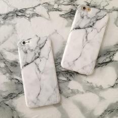 Marmer Copy Laris Fashion Sarung Telepon Lembut TPU Case untuk iPhone 5 5 S 5SE 6 6 S 6 Plus 7 7 Plus tekstur Batu Kembali Cove = Ukuran: untuk iPhone 7 Plus = Warna: Tidak Ditentukan-Intl