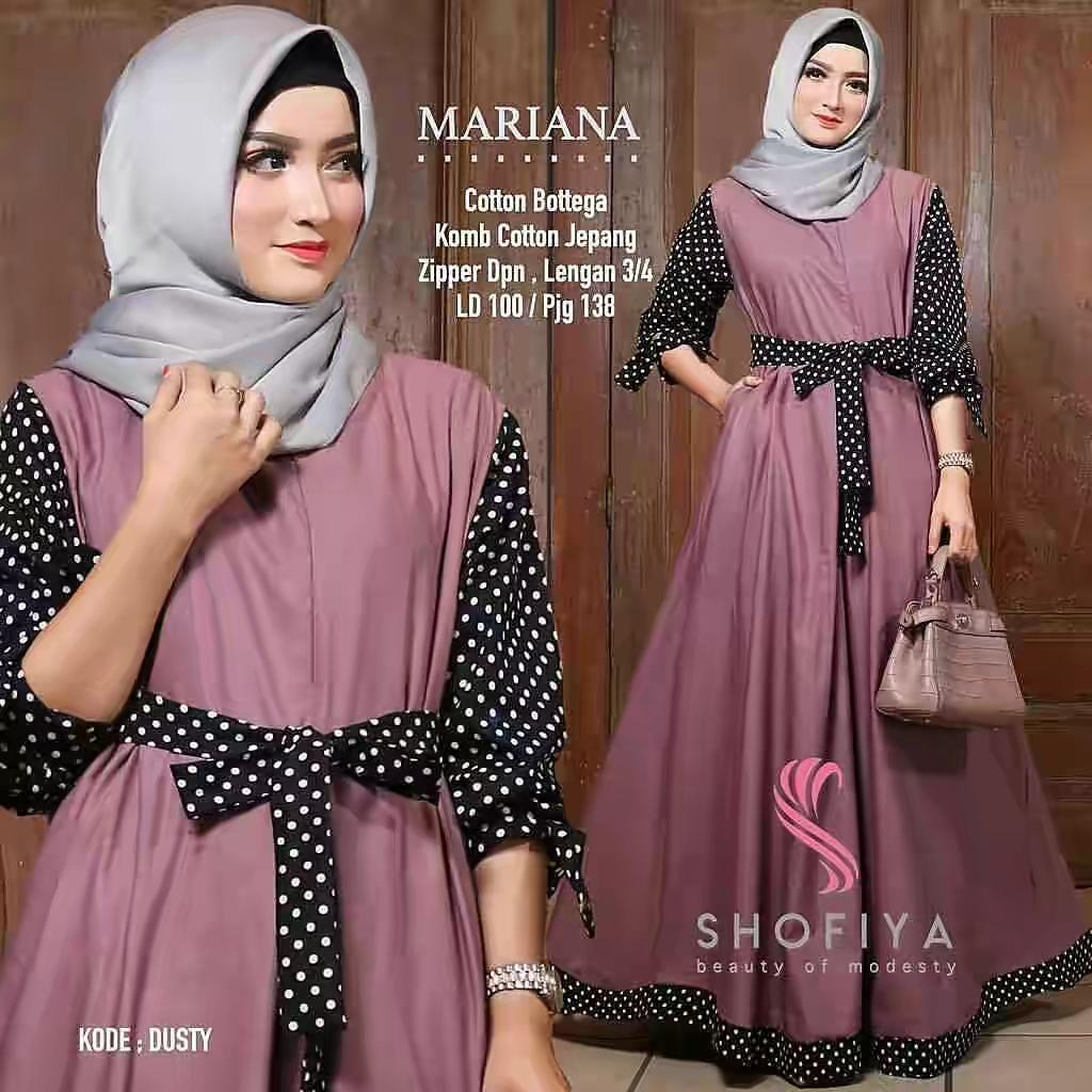 Model Mariana Dress Polka Balotelli Mix Katun Jepang Knzsr Terbaru